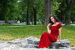 Šaty - letné bordové - 6955412_
