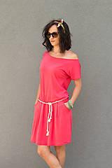 Šaty - letné ružové - 6955607_