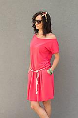 Šaty - letné ružové - 6955612_