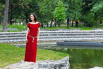Šaty - letné bordové - 6955407_