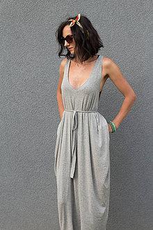 Šaty - letné sivé - 6955557_