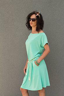 Šaty - letné mentolové - 6955575_