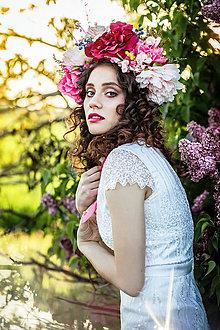 Ozdoby do vlasov - Kvetinový venček/parta