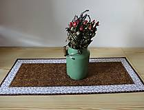 Úžitkový textil - Obrus - štóla hnedá - 6956303_