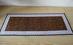 Úžitkový textil - Obrus - štóla hnedá - 6956305_