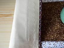 Úžitkový textil - Obrus - štóla hnedá - 6956306_