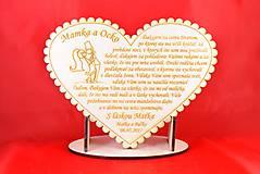 Darčeky pre svadobčanov - Drevene srdiečko ako poďakovanie rodičom 20 - 6955509_