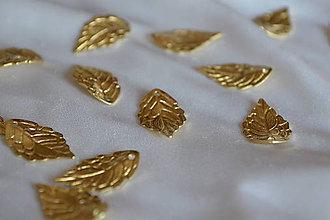 Komponenty - Prívesok list zlatý, 0.23€/ks - 6955755_