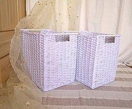 Košíky - Šatníkový box s drevenou tyčou/ks - 6954459_