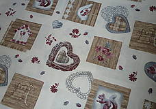 Textil - Látka Vintage na vanilkovej - 6958482_