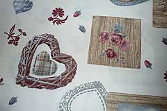Textil - Látka Vintage na vanilkovej - 6958484_