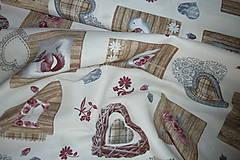 Textil - Látka Vintage na vanilkovej - 6958492_