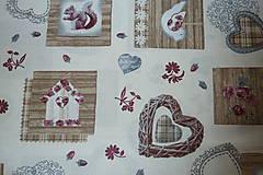 Textil - Látka Vintage na vanilkovej - 6958493_