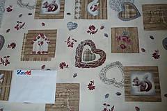 Textil - Látka Vintage na vanilkovej - 6958496_