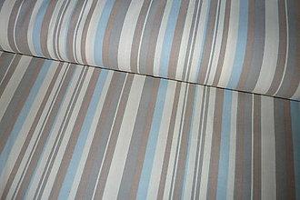 Textil - Látka Pásik modrošedý - 6958550_