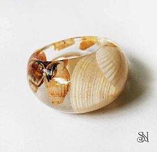 Prstene - Prsteň s morskými mušľami - 6960137_