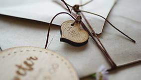 - Drevené gravírované iniciály Anna - 6960600_