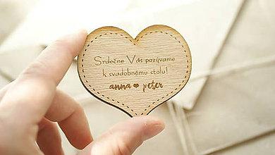 Papiernictvo - Drevené pozvanie k svadobnému stolu Anna - 6960535_