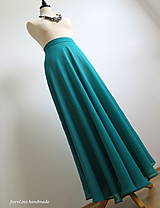 Sukne - romantická dlhá sukňa - v smaragdovo zelenej - 6957240_