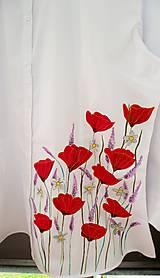 Košele - Makovo-levanduľové lúčne blúznenie - blúzka 3/4 rukáv - 6958775_