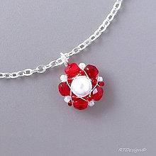 Náhrdelníky - Náhrdelník White & Red II - 6956832_