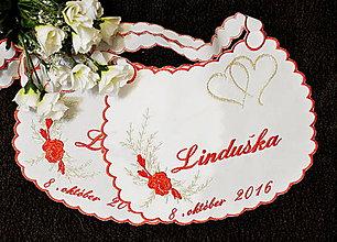 Iné doplnky - svadobné podbradníky-vyšívané - 6960482_