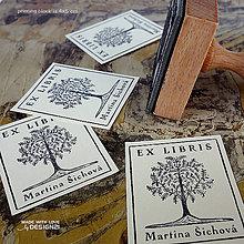 Drobnosti - Strom v rámečku: pečiatka: 4x5 cm - 6959545_