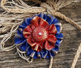 Odznaky/Brošne - Kvet pre námorníčku - 6959100_