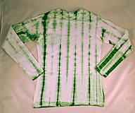 Tričká - Bílo-zelené batikované dámské triko s želvami XL - 6957714_