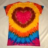 Tričká - Dámské pestrobarevné triko se srdcem, vel. XL - 6958907_