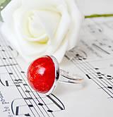 Prstene - Coral & Silver / Prsteň s červeným koralom v striebornom prevedení - 6961319_