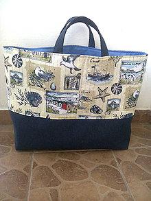 Nákupné tašky - Veľká plážova taška - 6961653_