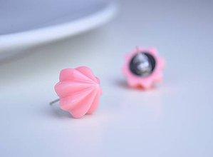 Náušnice - Náušnice Šľahačka ružová :) - 6961071_