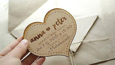 Papiernictvo - Gravírované drevené svadobné oznámenie Anna - 6960670_