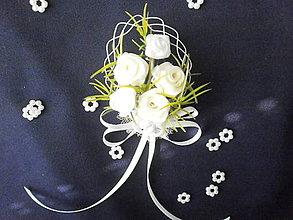 Pierka - Svadobné pierko s oblúčikom - 6963053_