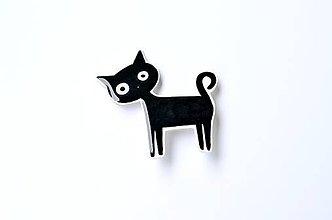 Odznaky/Brošne - Brošňa čierna mačka - 6962171_