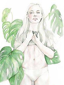 Obrazy - Monstera Deliciosa Print_A3 - 6963608_
