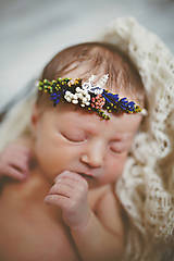 Ozdoby do vlasov - Newborn venček pre bábätko \
