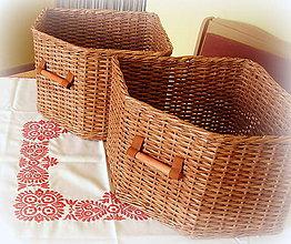 Košíky - Košík rohový hnedý - 6962529_
