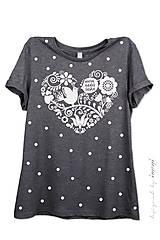 - Dámske tričko sivé melírové VNL - 6961534_