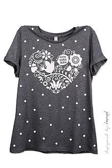 Tričká - Dámske tričko sivé melírové VNL - 6961534_