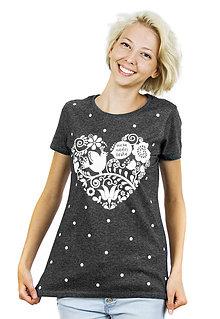 Tričká - Dámske tričko sivé melírové VNL - 6963595_
