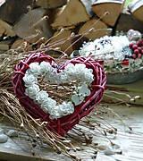 Dekorácie - červené srdce - 6965578_