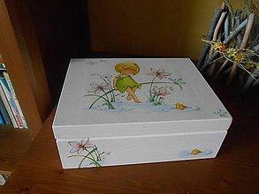 Krabičky - dievčatko s rybkou - 6963796_