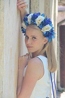 """Ozdoby do vlasov - parta """"nebo v očiach i kvete"""" - 6964653_"""