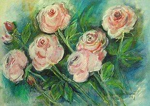 Obrazy - Romantika v ruži, 50x70 - 6964438_