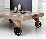 - !!!AKCIA!!! Konferenčný stôl INDUSTRY OLD BROWN Pôvodná cena: 345,-€ - 6965954_
