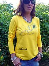 """Tričká - Tričko dámske """"yellow"""" - 6965206_"""