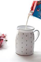 Nádoby - Keramický mliečník - 6964335_