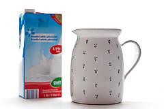 Nádoby - Keramický mliečník - 6964342_